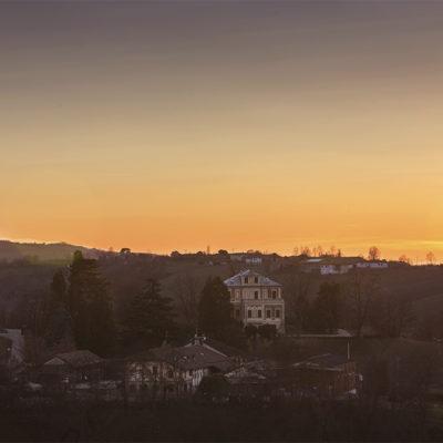 Villa Odero al tramonto