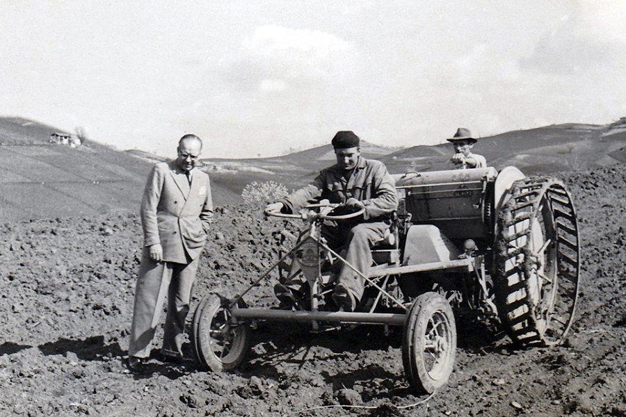 Giorgio Odero in campagna