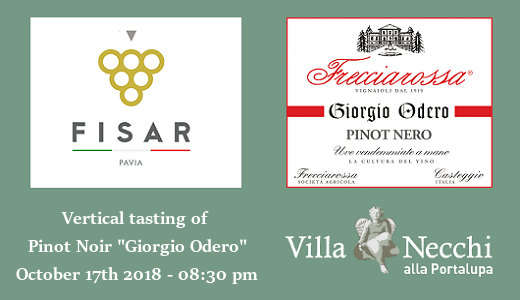 Vertical tasting of Pinot Noir Giorgio Odero with Fisar Pavia (October 17th 2018)