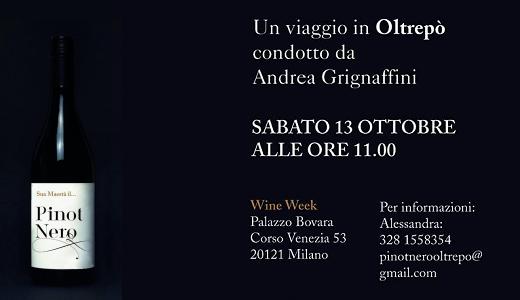Degustazione Pinot Nero OP alla MIlano Wine Week (13 ottobre 2018)
