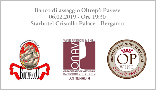Banco di assaggio Oltrepò Pavese (Bergamo, 06/02/2019)