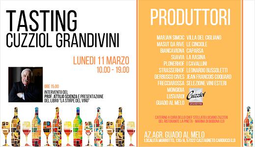 Degustazione Cuzziol GrandiVini a Guado al Melo (11/03/2019)