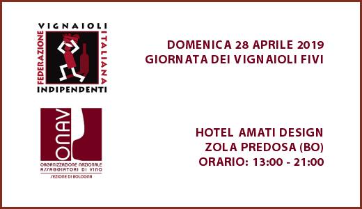 Giornata dei vignaioli FIVI Bologna - Locandina