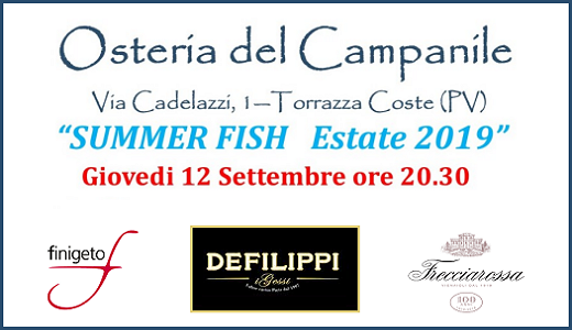 Summer Fish all'Osteria del Campanile (12/09/2019)