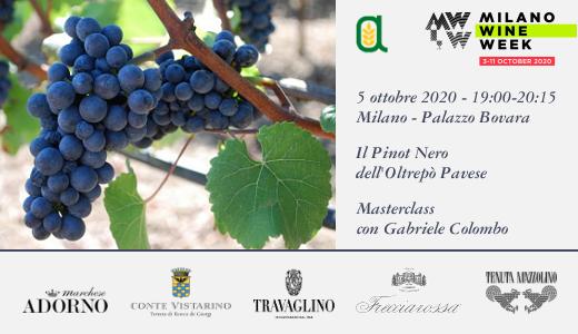 """Masterclass """"Il Pinot Nero dell'Oltrepò Pavese"""" (Milano, 05/10/2020)"""